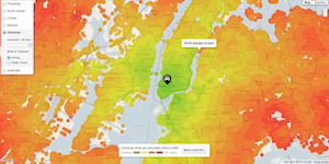 Trulia New York commute map
