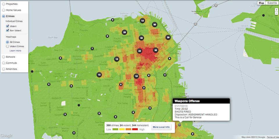 Trulia Crime Map